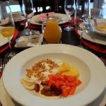 Our breakfast before breakfast.  I now love breakfast.