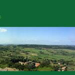 Panorama della campagna senese dal balcone della camera n 6