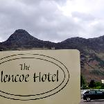 Hotel Sign with the 'Pap of Glencoe' background