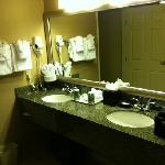Double granite vanity bathroom