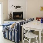Vacation in our Seascape Cottage and enjoy our full kitchen, living room with pullout sofa and p