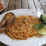 perfect spaghetti and salmon