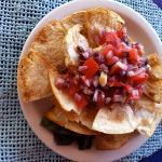 Homemade hummus with pita chips