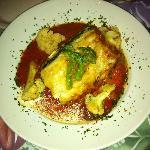 The vegetable lasagne kinda rocked