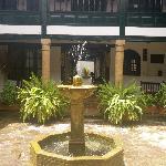 courtyard inside hotel