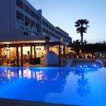 Pool and themed restaurants at the mitsis faliraki