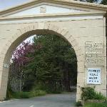 The main entrance and arch of the Forest Park