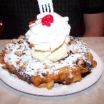 Funnel Cake with all the toppings!