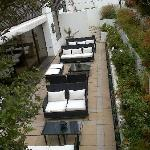 The gorgeous outside area...