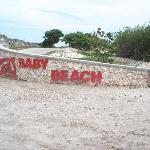 Baby Beach sign