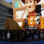 woody out side out hotel room