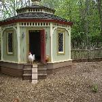 Even the chickens have beautiful accommodation!