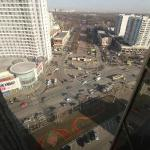 View on Sokolniki Park and metro from 20th floor