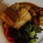 Mediterranean swordfish with bananas & potato-Yum!