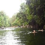Swimming inthe Rio Blanco