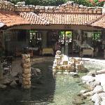 The restaurants / where we had breakfast each morning