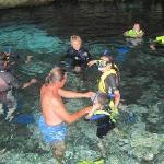Undergound river snorkeling