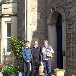 Front of the house with Linda and Colin