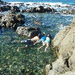 Snorkelling in the rockpools