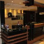 Modern reception area with really nice staff