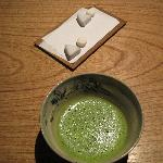 Wonderful ending of green tea and petit fours.