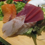 small sashimi platter