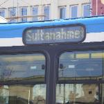 The tram - stop is located very close to hotel