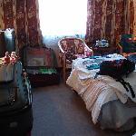 Bedroom with working TV