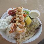 Grilled Mahi Mahi and shrimp