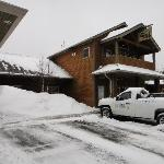 The outside of the Lodge, it is very easy to miss driving by.