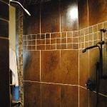 tile shower with 4 shower heads
