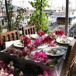 Our bougainvillea table