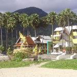 beach in front of hotel