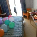 our room decorated