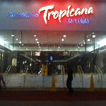 Tropicana entrance at night