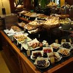 A small part of the buffet breakfast