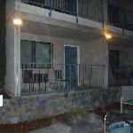 Room 1050 balconey next to hot tub