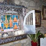 Artefacts from around the world adorn the lounge