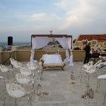 Terrace of the hotel were wedding was held