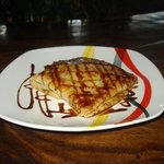 Crepe with glazed apples