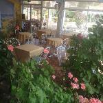 salle petit déjeuner et jardin interieur