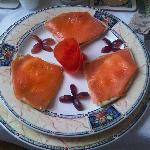 Smoked Salmon on Potato Scones- delicious