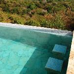 bar stools in pool
