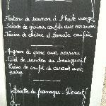 €19.50 menu