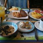 朝ご飯のブッフェ