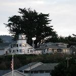 Brookings - Pelican Bay lighthouse, on hill above Best Western motel