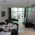 duplex downstairs kitchen\living area