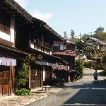 Street in Tsumago outside the ryokan