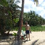 husband, beach, palm trees= bliss!