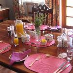 The beautiful breakfast table